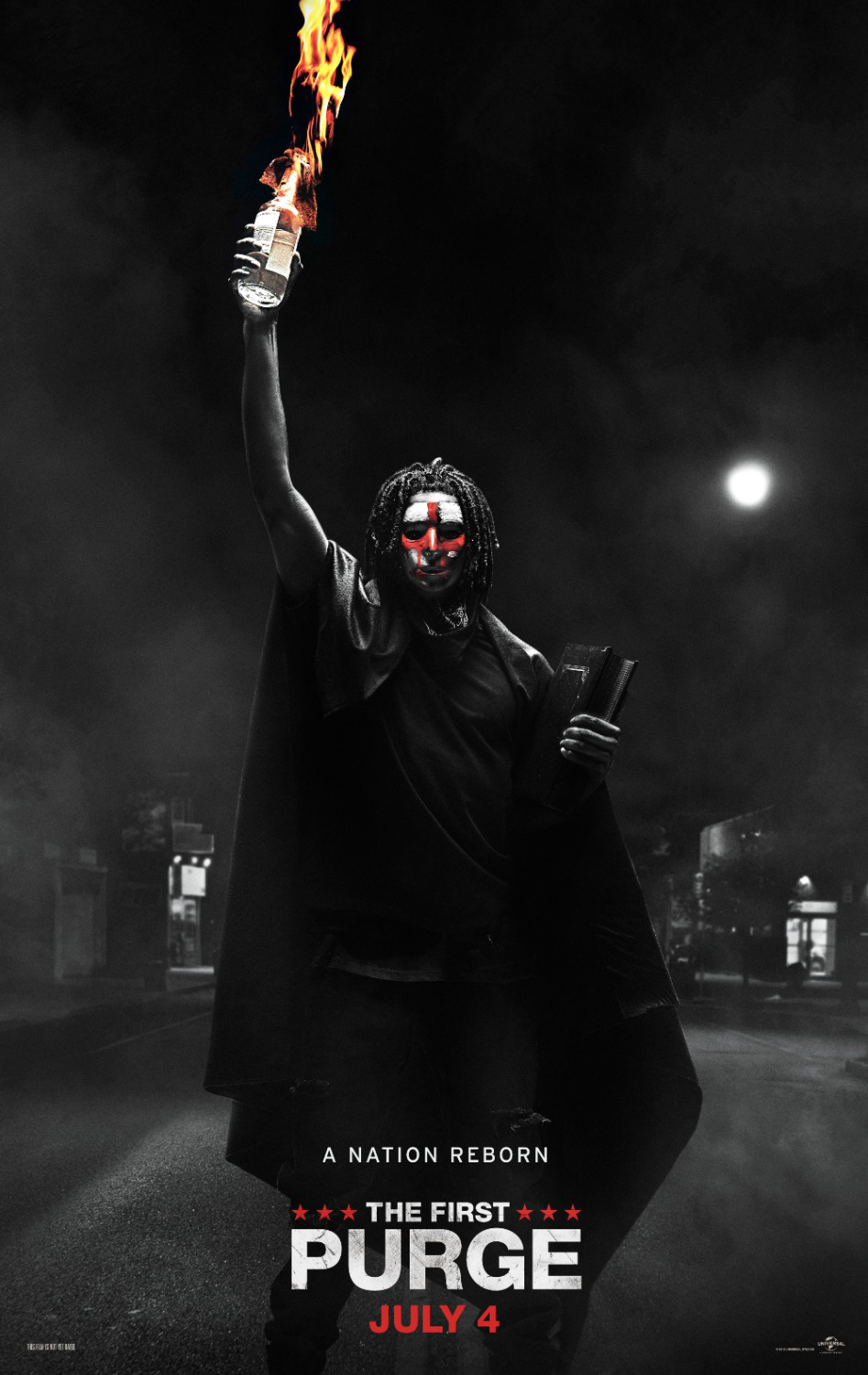Review of The First Purge - Kathia Woods - This is the 4th installment of the First Purge. I have to be honest I wasn't really invested in the first three and agreed to view this because a colleague said its quite good. Low and behold it is. Gone is Ethan Hawke but we are introduced to new characters such as drug king/hero William portrayed by Y'lan Noel and activist Nya played by Lex Scott Davis. Rounding out the cast Joivan Wade who plays Nya brother Isaiah, Mugga as Dolores and Lauren Velez as Luisa.This movie introduces us to the architect of the Purge Dr. Updale depicted by Marisa Tomei. It's 2014, and the new admiration thinks America is overpopulated. So, they decided to focus on the poor, the disenfranchised, criminals and motivate them to turn on each other. Staten Island is the test group for the experiment. Money, the root of all evil, is the enticement. You stay you get paid, you roam you get paid, and you kill you get paid.This movie is very in step with the current political climate which is accosting the same people targeted in this movie. The concept is not far fetched, and history has shown how the government has interfered in keeping the poor more impoverished. The first purge demonstrates that all though folks are poor and feeling disconnect doesn't mean that they lack morals and hence the experiment is manipulated. The idea that poor people have morals was never considered so, in turn, the agitators were pulled in to produce the result they wanted. In the end, money is not everything. Friends matter, the community matter, and poverty don't turn everyone into criminals.