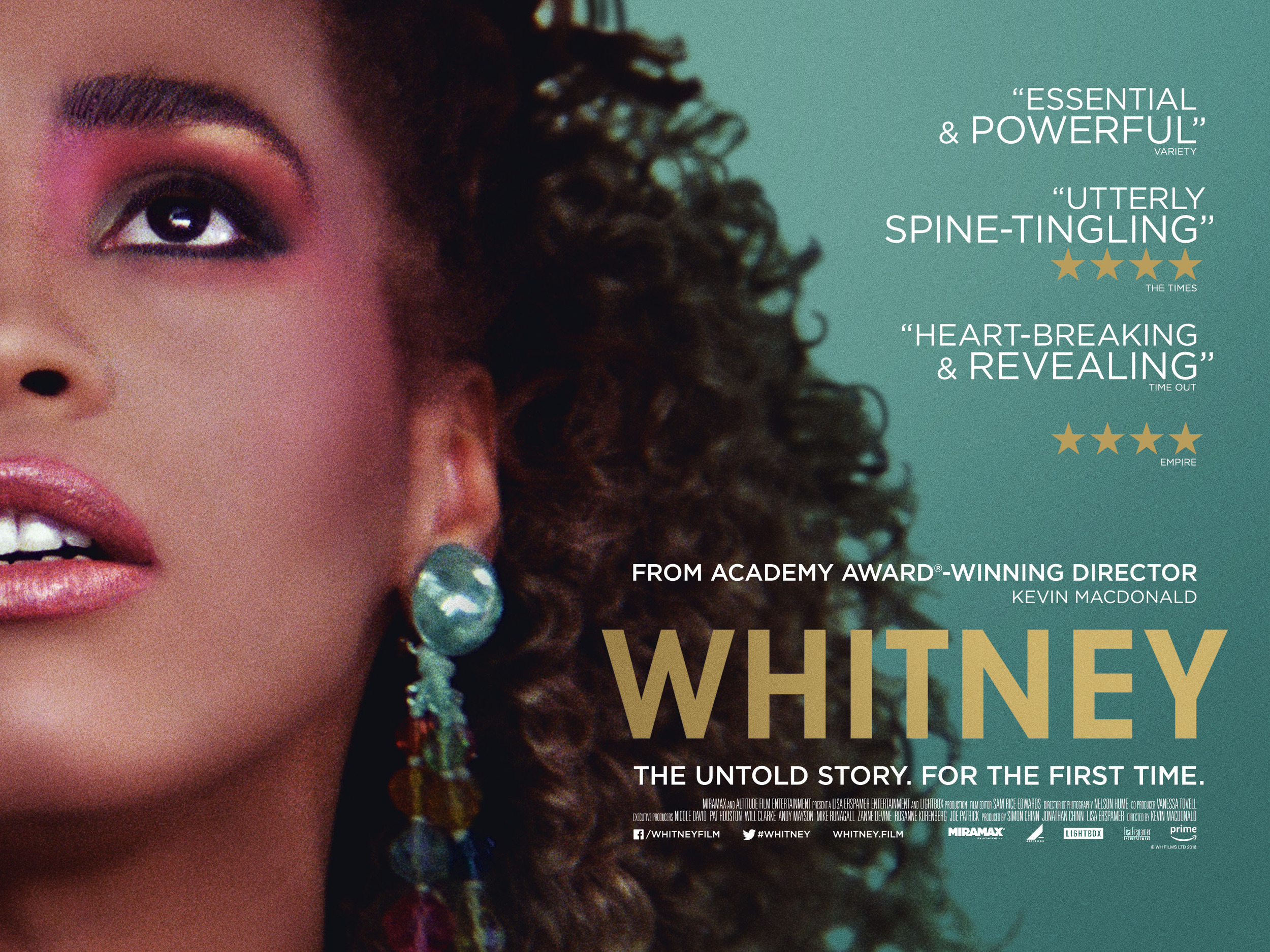 Review of Whitneyby Kathia Woods - Whitney is the biopic documentary about Whitney Houston. It covers her beginnings in Newark up to her untimely death in February of 2012. The movie dives into many of the unanswered questions about her private life and confirms so many of the rumors previously denied. She had a mother she wanted to emulate, a father that manipulated her love, brothers that took advantage and Clive Davis that erased as much of her blackness re branding her into his singing mannequin. All these elements contributed to her out of this world success. Even now twenty years later there is much discomfort when the movie discusses her relationship with a lost friend/girlfriend Robyn Crawford. Crawford who has remained silent on her relationship with Whitney declined to participate in the documentary. Bobby Brown makes an appearance, however, is very reluctant to discuss the addiction portion of their relationship. The person that stands out the most is her assistant Mary Jones. Ms. Jones is incredibly honest when she speaks about Whitney's challenges but also endearing. She seems to be one of the few people that genuinely loved her. A family is supposed to protect you from your demons not enable them. Michael and Gary, her brothers, are forced upon her professional circle via her father, John Houston. Neither seems to take responsibility for their part of her undoing. What is evident throughout this entire movie there weren't many moments of sheer happiness for Whitney. The more famous she became, the more alone she felt. This movie gives you a better understanding of the beast that's fame. She gave us so many extraordinary moments, yet we failed her when she needed us the most.