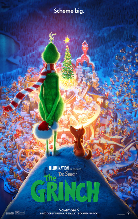 Review of The Grinch - by Kathia WoodsIt's Holiday Movie time, so with reboots on the rise a new version of