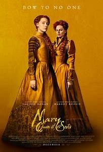 Mary Queen of Scots - by Kathia WoodsMany are familiar with the story of how Queen Elizabeth the first rose to Power, but many are not familiar with the story of Mary Queen of Scots. We all have acclimated to the fact that Scotland has been under English rule and never looked back.This movie seems to remedy that. We meet young Mary upon her return to Scotland from her exile in France. In this movie, Saoirse Ronan portrays the young woman with a great Scottish accent. Margo Robbie my pick for Best Actress last year is the stark Queen Elizabeth.What I loved about this movie besides the outstanding costumes and scenery is that we get to see two strong women leading — women that were challenged merely because of their gender. They understood that their every decision was questioned only because of their gender. Both women must live an isolated life because they couldn't trust anyone.Margo Robbie as Elizabeth demonstrates it beautifully in scenes where she pushes back about marriage. The emotional turmoil she experiences upon sentencing Mary to death is breathtaking. Ronan is no slouch in her portrayal of Mary. She gives life to a monarch that is often mischaracterized or spoken in vain. She stuck between fighting her brother and tolerating her gay drunk husband.I can say the highlight of the Movie for me is when the two queens finally meet face to face. The dance of words alone is worth the price of admission. The only drawback to this movie is that it starts very slow. It takes a minute to get going which will turn off some moviegoers however once it finds it footing its quite good.Diversity- it receives a seven because Josie Rourke chooses to cast Adrian Lester as one of Queen Elizabeth's advisers. There were also other people of color featured in an Elizabethan story.Scale- I give this movie a seven and a half because of its slow beginning.