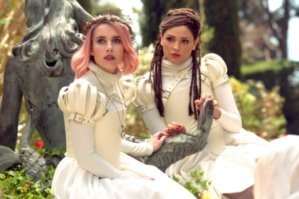 "Paradise Hills - written by Kathia WoodsParadise Hills is a fantasy postcard brought to you via costume designer first-time director Alice Waddington.""Paradise Hills"" is an island that specializes in reforming young women. These young women aren't your average young women but privileged young women. Some of the affliction they suffer from are not agreeing to marry the right man, not living up to one's mother beauty standards, and the audacity to make original music.Emma Stone leads this band of misfits as they work their way through various workshops that include exercise, beauty regiments, and intense therapy. Uma portrayed by Emma Roberts is suspicious of everything.Roberts has amassed a career portraying the indie darling. She has a strong following, and perhaps this inspired by Alice Waddington to cast her. The 24-million-dollar question, in turn, is what convinced Roberts to accept a role in such a mess of a script.Two things are going in with this movie intent and delivery. The plan was to create a movie about women empowerment; however, that's not what's on the screenThe film is a mess. The message is unclear and the performances underwhelming. Milla Jovovich as the Duchess is lackluster. She does not have the emotional range to play such a role, however, in her defense, the script wasn't very inspiring. Danielle MacDonald is one of the positives of this movie. Fresh of her turn in ""Birdbox"" she manages to deliver some charm and humor. Eliza Gonzalez is the tortured singer who isn't allowed to sing her songs. I'm still trying to determine if she is the bad girl or big sister to the bunch. Awkwafina is the most underused actor in this movie. She has no purpose.The message the director, as well as the cast, kept emphasizing was women empowerment. These women were supposed to represent resistance however none of that was present in the movie. As a woman, I didn't feel empowered I felt tortured for being subjected to watch this film that lacks direction.The one positive about this film is the costuming. The white dresses the girls are made to wear are stylish and well-tailored. The location of the film is also beautiful.In the end, intention did not meet the delivery, and great costumes don't translate to a good movie.Diversity- A woman/Latina directed this movie, and the leads were women.Scale- I give this movie a four for the costumes and scenery."