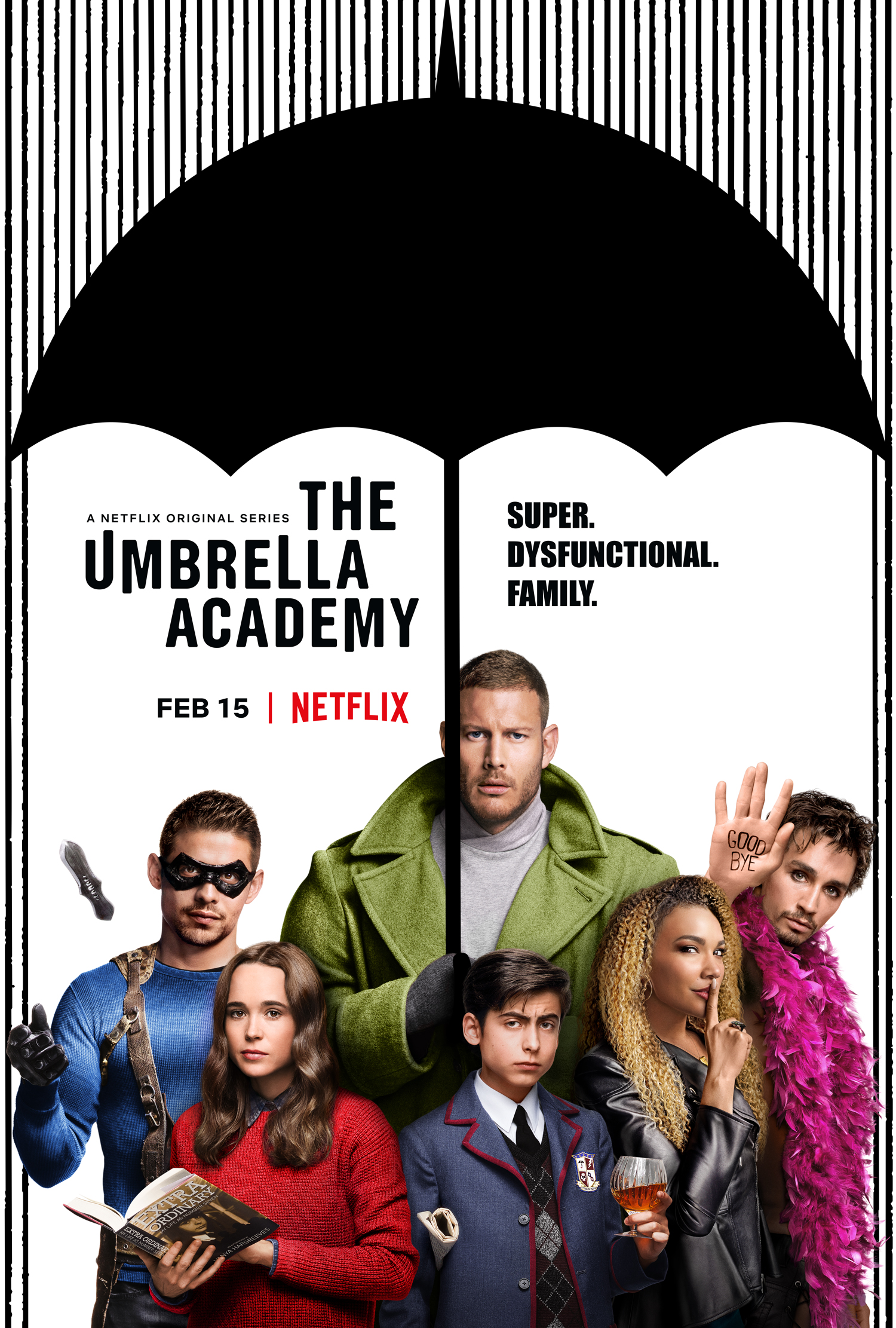 """The Umbrella Academy - By Sonia AvilesNetflix's new series The Umbrella Academy is a whole lot of fun and kept me on the edge guessing the plot of this show so far. The first episode starts off a bit cute then turns to a whole lot of weird and it left me with lots of questions. To put it simply, on the first of October in the year 1989, 43 women around the world gave birth, however these women were not pregnant on the beginning of that specific day. Let that sink in.From there a strange older man by the name of Reginald Hargreeves (Colm Feore) sought out to adopt seven of these special children and raise them to be """"extraordinary"""" superheroes. Simple premise, right? No. It gets a bit more intricate than that as the episodes unravel bits and pieces of a bigger puzzle.The first episode meets only six of the seven heroes that come together for their father's funeral: Luther (Tom Hopper), Diego (David Castaneda), Allison (Emmy Raver-Lampman), Klaus (Robert Sheehan), Vanya (Ellen Page), and """"Number 5"""" (Aidan Gallagher). While they are at their family home, they discover something is off about the way their father died, which introduces the audience to the plot. However, what is strange is the focus on their father's missing manacle, which apparently, he never left behind. Their """"mother"""" seems to be a malfunctioning robot, and """"Number 5"""" came back out of seemingly from the future where everyone in the world is dead. From that point onward, it is one strange ordeal after another, that somehow connects. This also a talking and very intelligent monkey who is now in charge of their home, which I found intriguing and delightful. Planet of the Apes, anyone?All jokes aside, not only are these ordeals strange, but somehow it feels like the show is trying to feed me clues to keep note for future episodes. Or at the very least keep me guessing.Which brings me to my next point; the atmosphere. I want to really emphasize that the atmosphere of this show isn't the typical """"superheroes"""