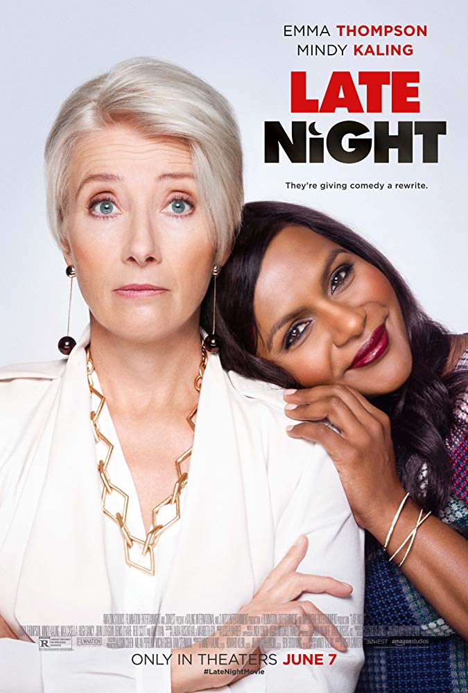 Late Night - by Kathia WoodsThe voices of men dominate late Night Tv, so it was delightful to see the new movie Late Night center on the career of Katharine Newbury. The fictional late-night host portrayed brilliantly by Emma Thompson. Late Night is a movie that depicts the competitive world of late-Night television not just in front of the camera but also in the writer's room.The other notable takeaway is that although a woman is leading the charge, it doesn't always translate into diversity. Those are some of the topics beautifully tackled by writer and star Mindy Kaling.Kaling knows a thing or two about being a writer in Hollywood. First on the office and then later her successful sitcom The Mindy Kaling project. This film received a lot of buzz at Sundance, so naturally, I had high expectations about seeing it. I am happy to report it lived up to the hype.Let's discuss why I enjoyed this movie so much. I was pleased that Kaling chooses to be honest about the challenges that women face when entering a dominant male space. Yes, she uses humor, but the truth is ugly and at times, uncomfortable. Kaling plays Molly Katel an underground comedian that works at a chemical plant. She is hired for one reason she's a woman. There isn't a minority or woman alive that hasn't faced such a hire. Am I here because they think I'm qualified or to round out some quota? Kaling uses humor to demonstrate that just because you're in doesn't mean that you are welcomed. The scene where she first arrives but isn't given a seat nicely shows that challenges her character faces. I also like how Late Night doesn't let Molly off the hook. We sometimes are so focused on getting in the room that we forget that's only half of the battle. Molly at times forgets that she already has the job but now it's time to do the work.The supporting cast is equally as charming as Kaling. Reid Scott as head writer Tom Campbell better known to as Dan Egan on Veep is the superstar head writer. He pushes back at 