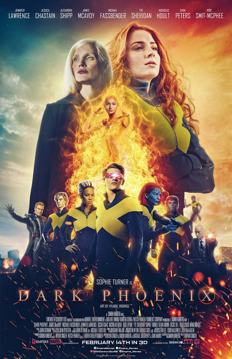 Dark Phoenix - by Kathia WoodsDark Phoenix is the 12th installment of the X-Men movies and the last one under Fox.Fox merged with Disney last Fall moving all the MCU under the Disney parenthood for future projects. Many felt that this project needed to be postponed until Disney had a chance to review it; however, 200 million was spent in its creation, so here, we are with discussing our superheroes latest adventure.Dark Phoenix centers around Jean Grey. Once again, Jean finds herself struggling between good and evil.The X-men in Dark Phoenix are enjoying a harmonious partnership with their human counterparts. They're nurturing the next generation of mutants as well as cementing their superhero status by performing heroic missions. It's during one of those missions that the balance of the universe changes.Let's discuss the character of Jean Grey, aka Dark Phoenix. Jean has undergone several metamorphoses throughout the X-Men saga. On film, this is her second time going rogue. In the comic book, we get a backstory explaining why these things occur; however, the films never seem to connect the dots. In Dark Phoenix Jean has an encounter with a Meteor, and that's when things get interesting. It's a great beginning but where it lapses is when she reconnects with her father. Are we to believe that after all this flow of information about Mutants that her parents were never aware of her powers? That she never understood that she was different. The are several opportunities to clarify these inconsistencies from the car scene to the hospital. There are hints that her father notices but no follow up. A perfect opportunity to give context to the relationship between Jean and her father was missed. Also, Jean is telepathic meaning she can send messages and read minds. Dark Phoenix overlooks this fact. All the years working with Professor X Jean never once realized that he guarded the key to her childhood. This oversight contributes to the monotone mood of this movie.Jessica Cha