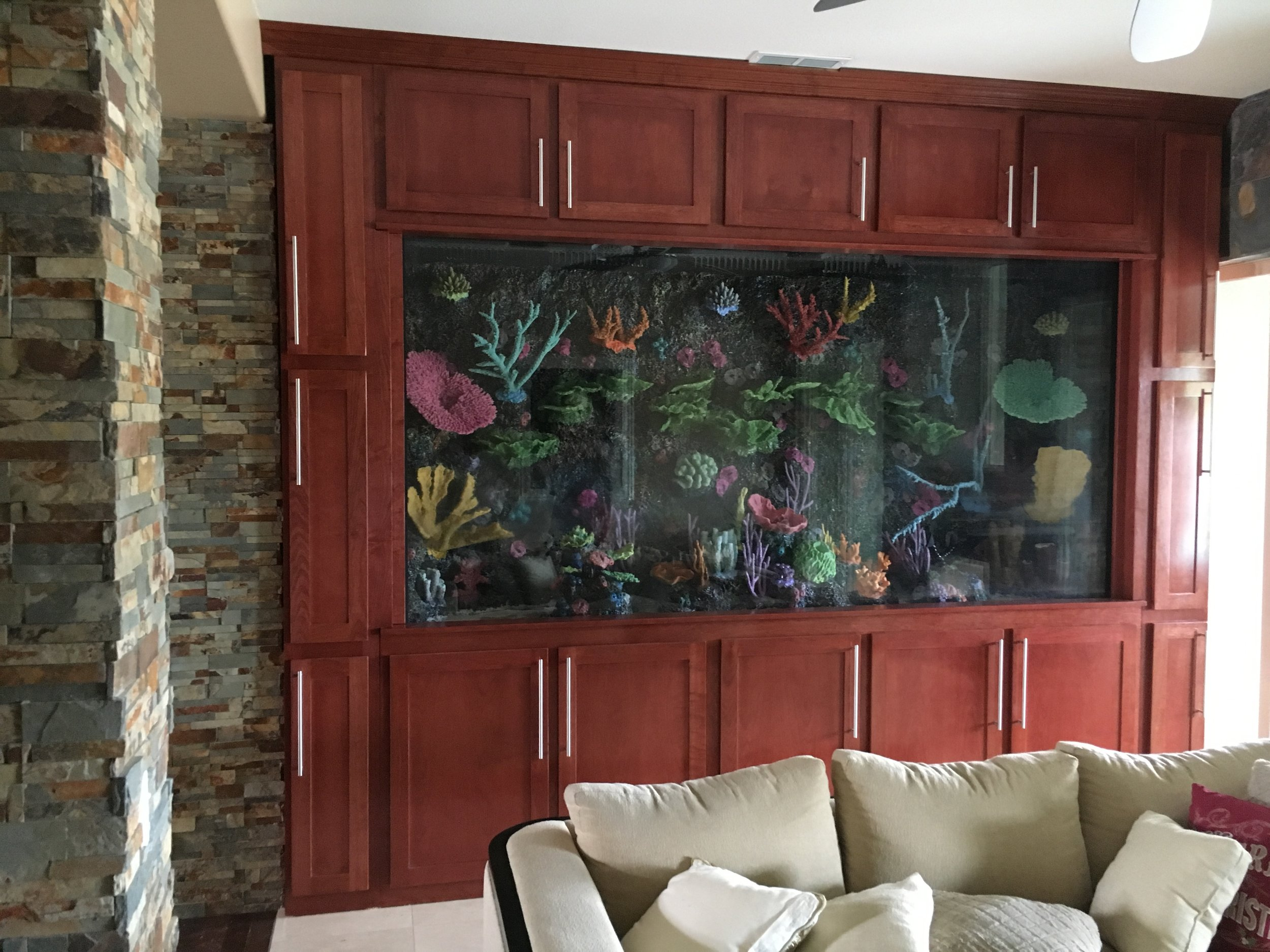 Perfect Color! - People have been complimenting the cabinetry surrounding the Fish tank nonstop since you designed it. The details are fantastic and the color matches the entire home's theme. You rock!!- Anthony, Casablanca Hotel and Casino