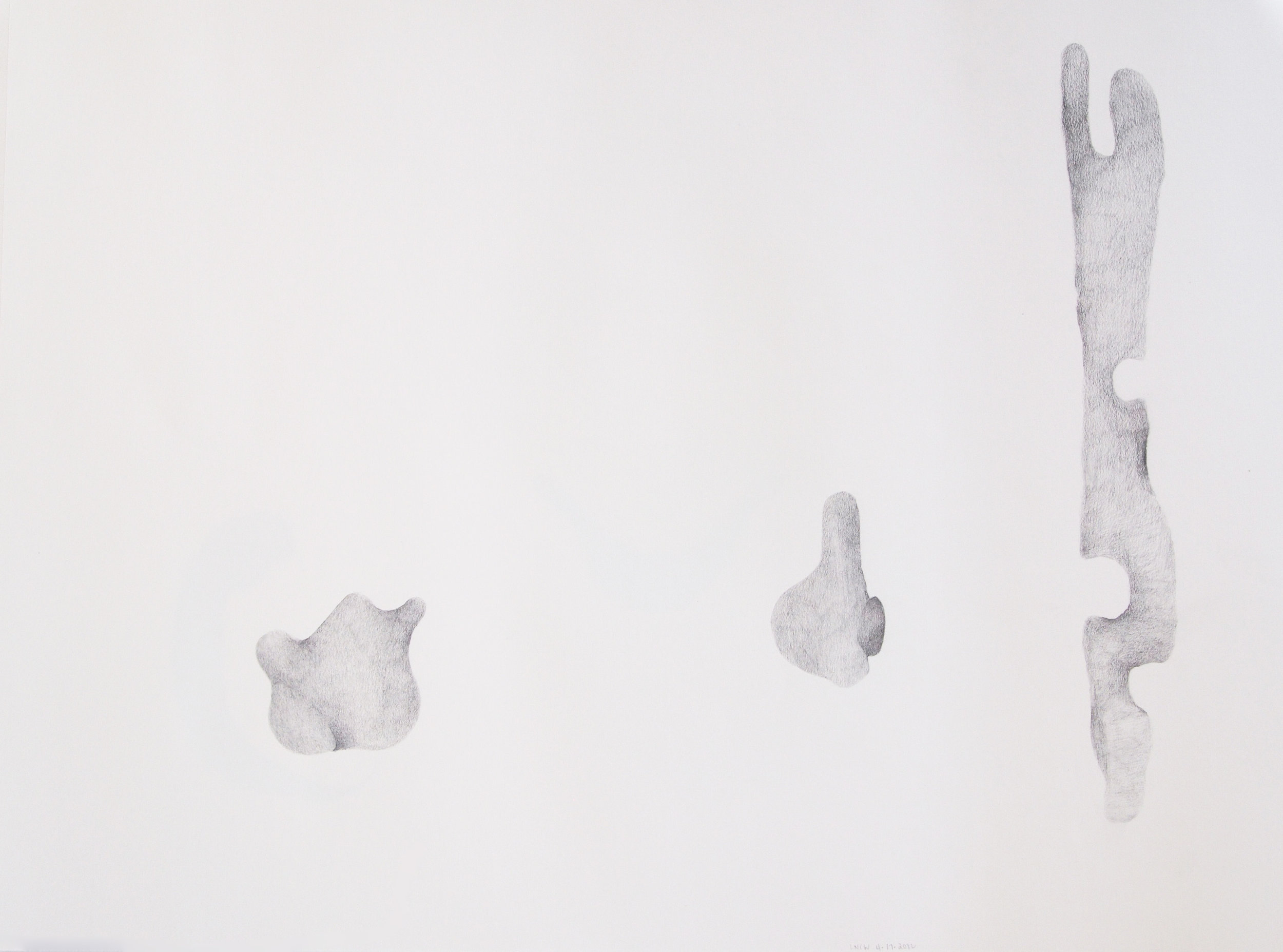 "Drawing 1, 2011, 18"" x 24"", pencil on paper"
