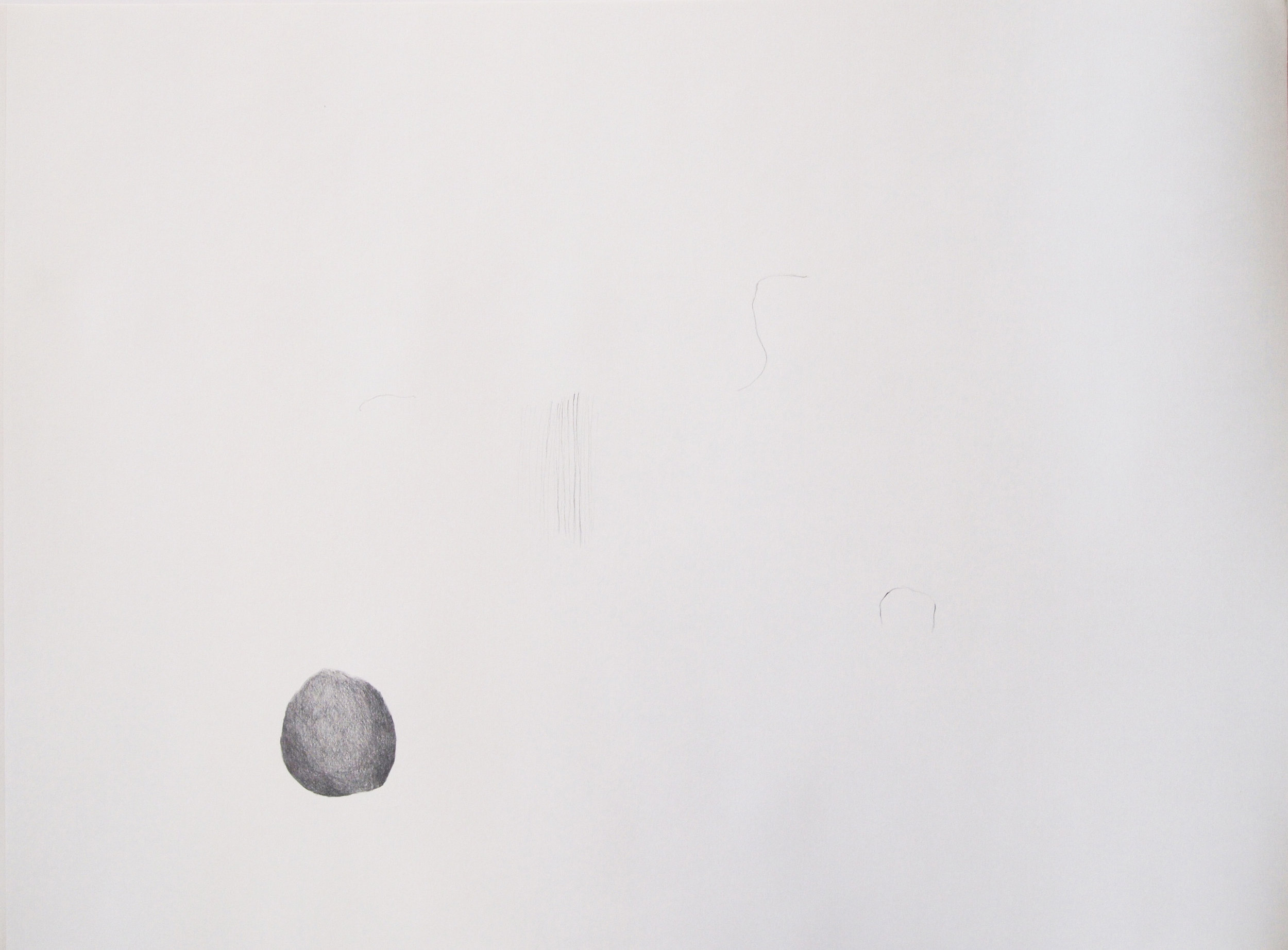 "Drawing 6, 2011, 18"" x 24"", pencil on paper"