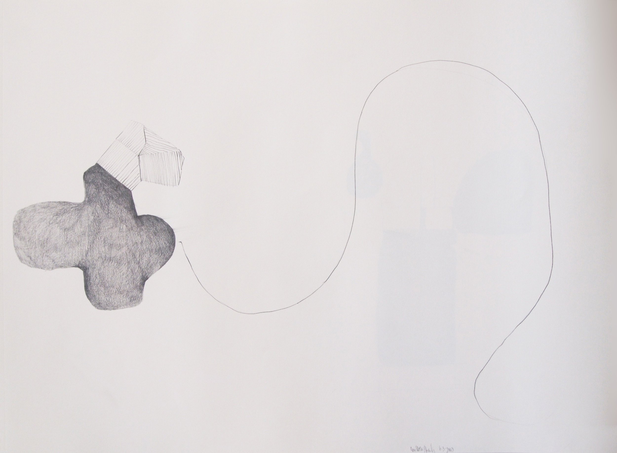 "Drawing 7, 2011, 18"" x 24"", pencil on paper"