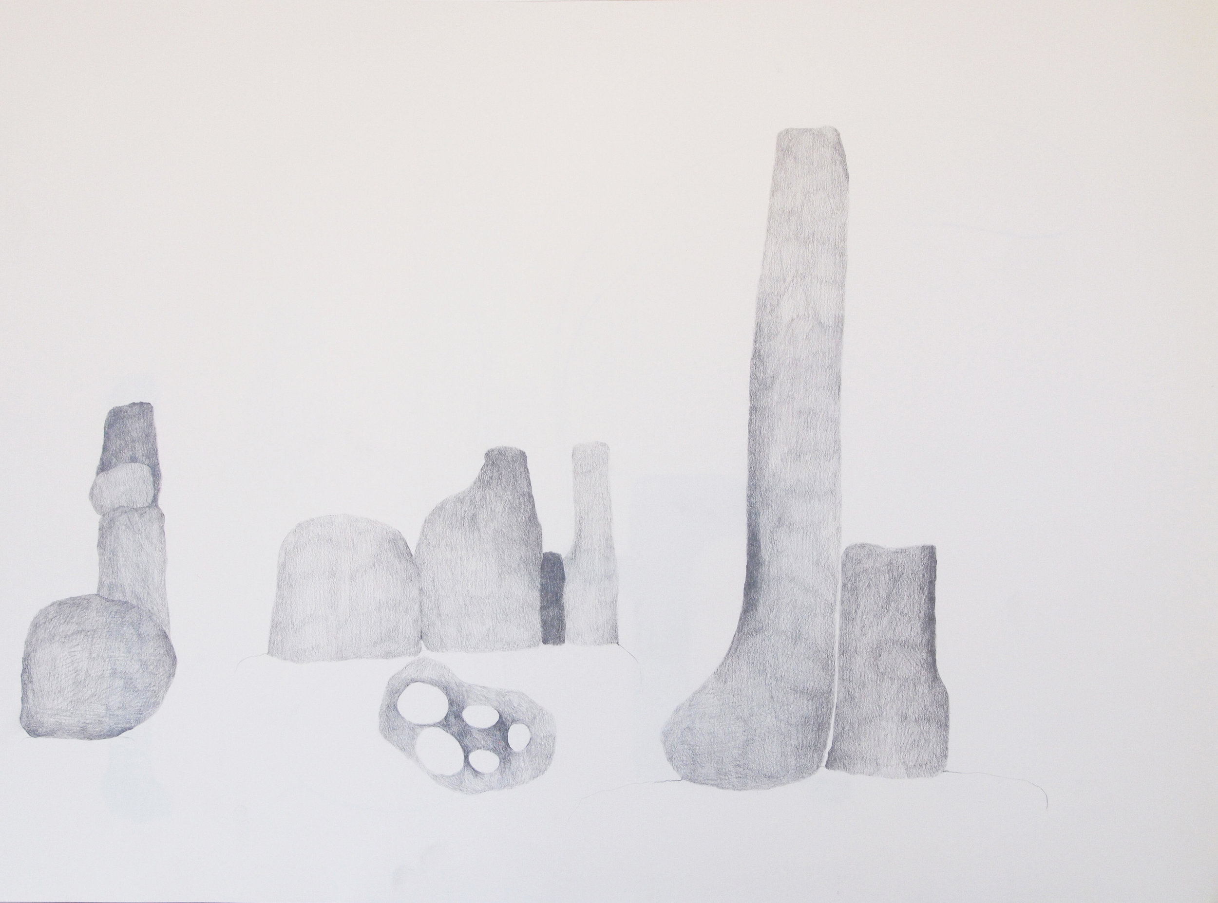 "Drawing 9, 2011, 18"" x 24"", pencil on paper"