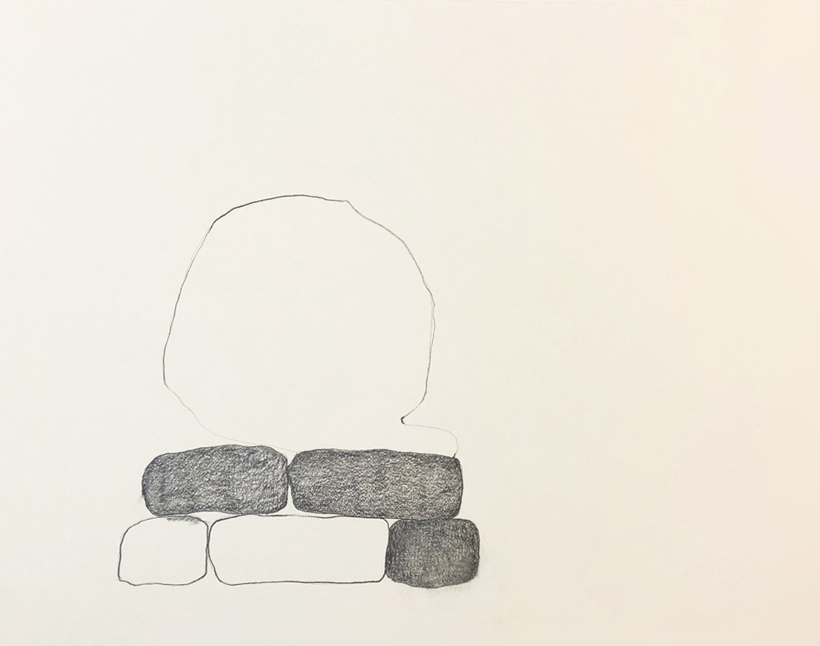 "Drawing 5, 2014, 8"" x 10"", pencil on paper"