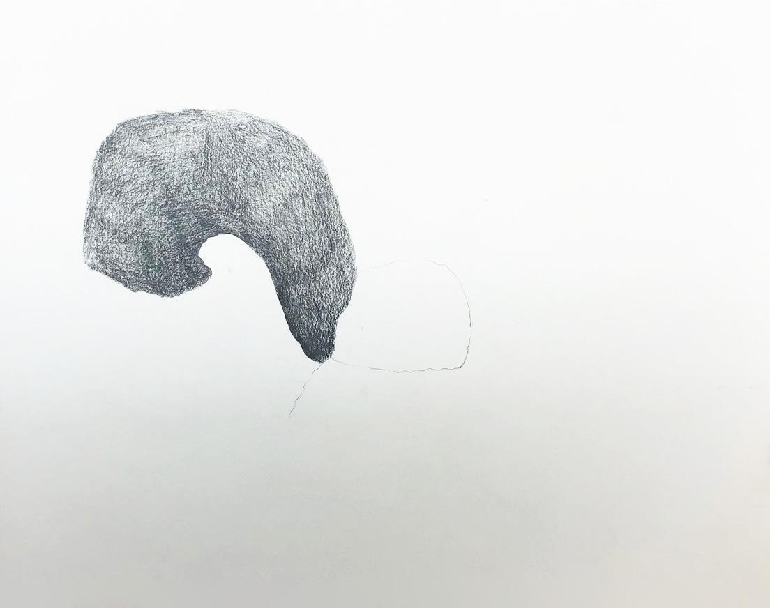 "Drawing 2, 2011, 8"" x 10"", pencil on paper"