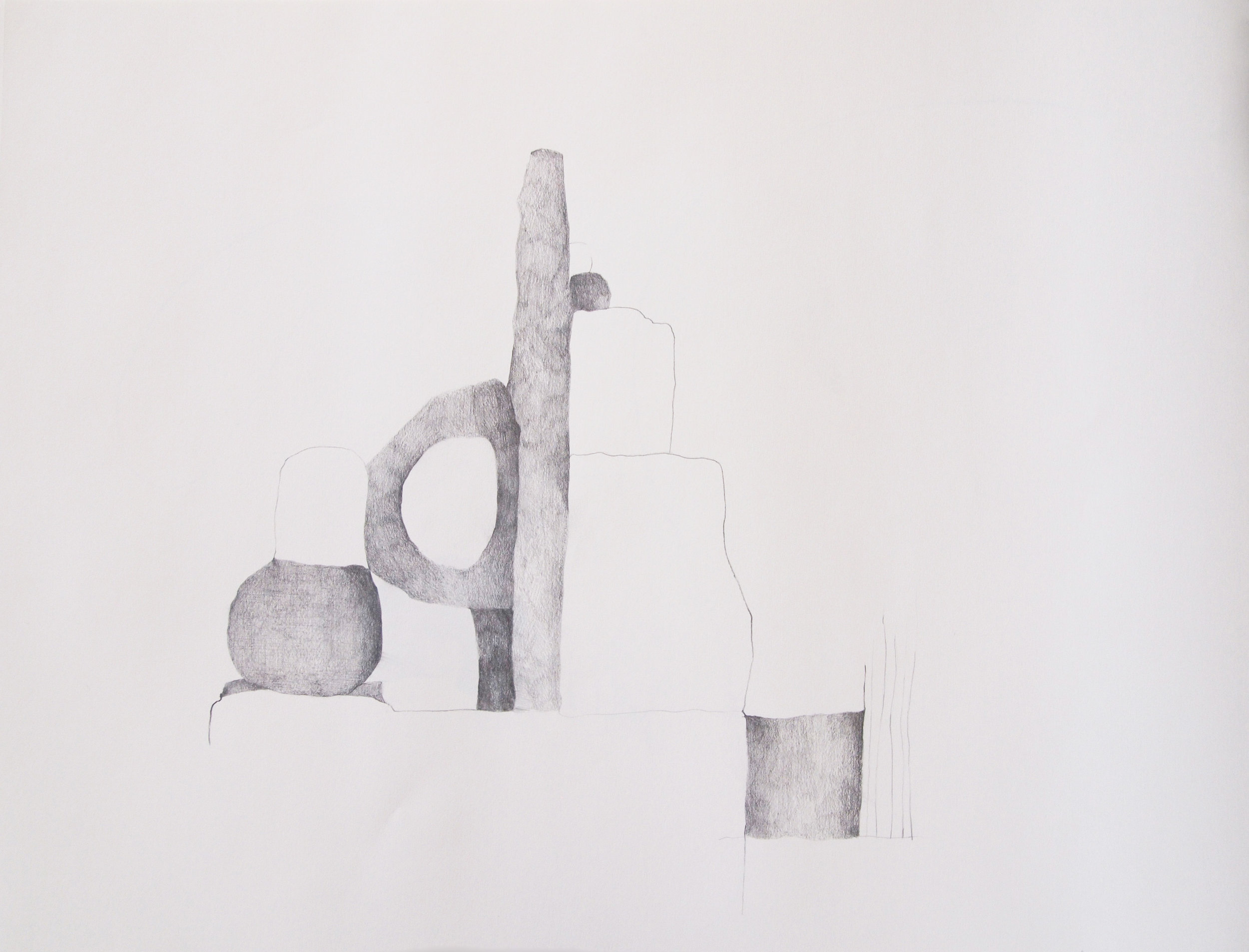 "Drawing 4, 2011, 18"" x 24"", pencil on paper"