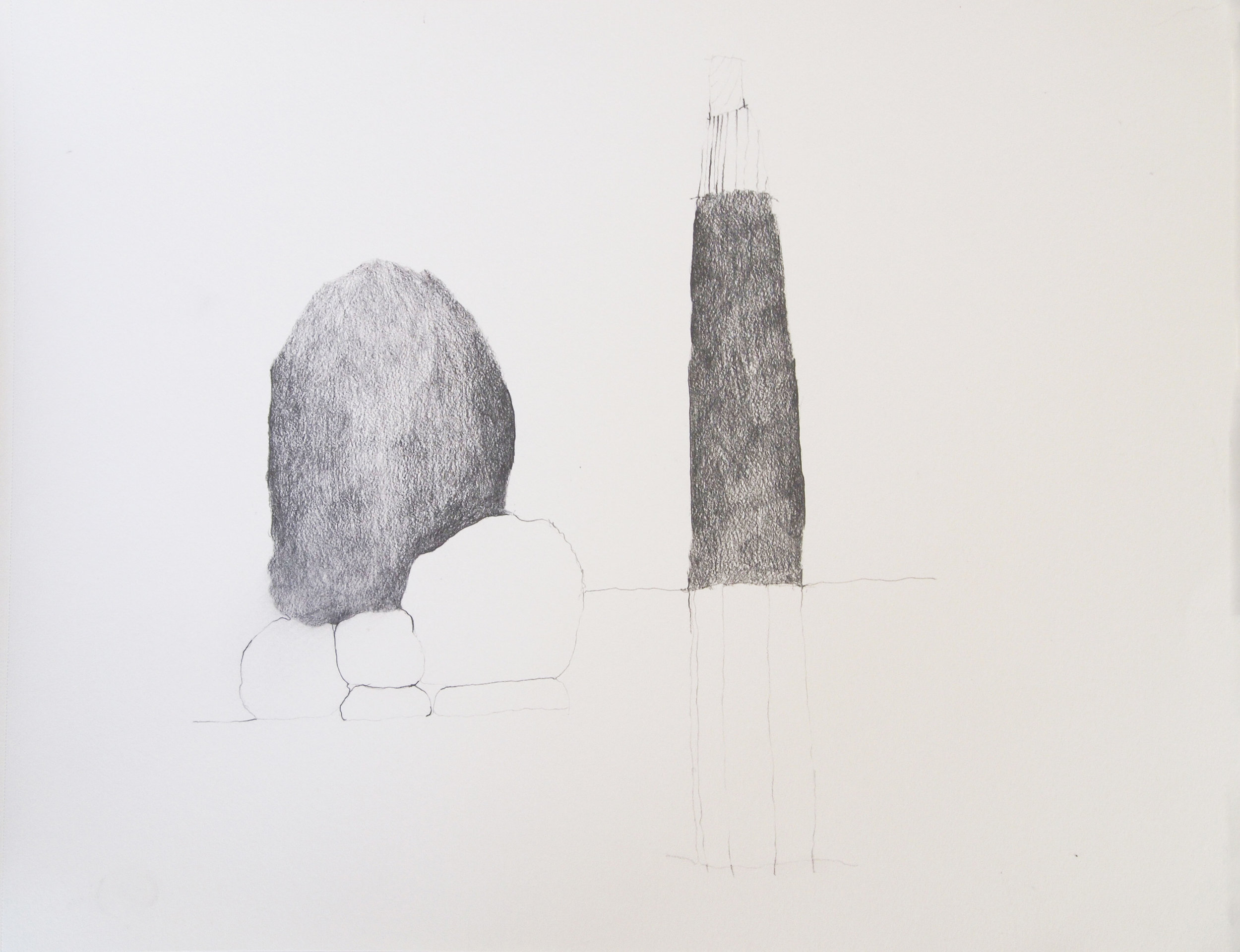 "Drawing 2, 2011, 18"" x 24"", pencil on paper"