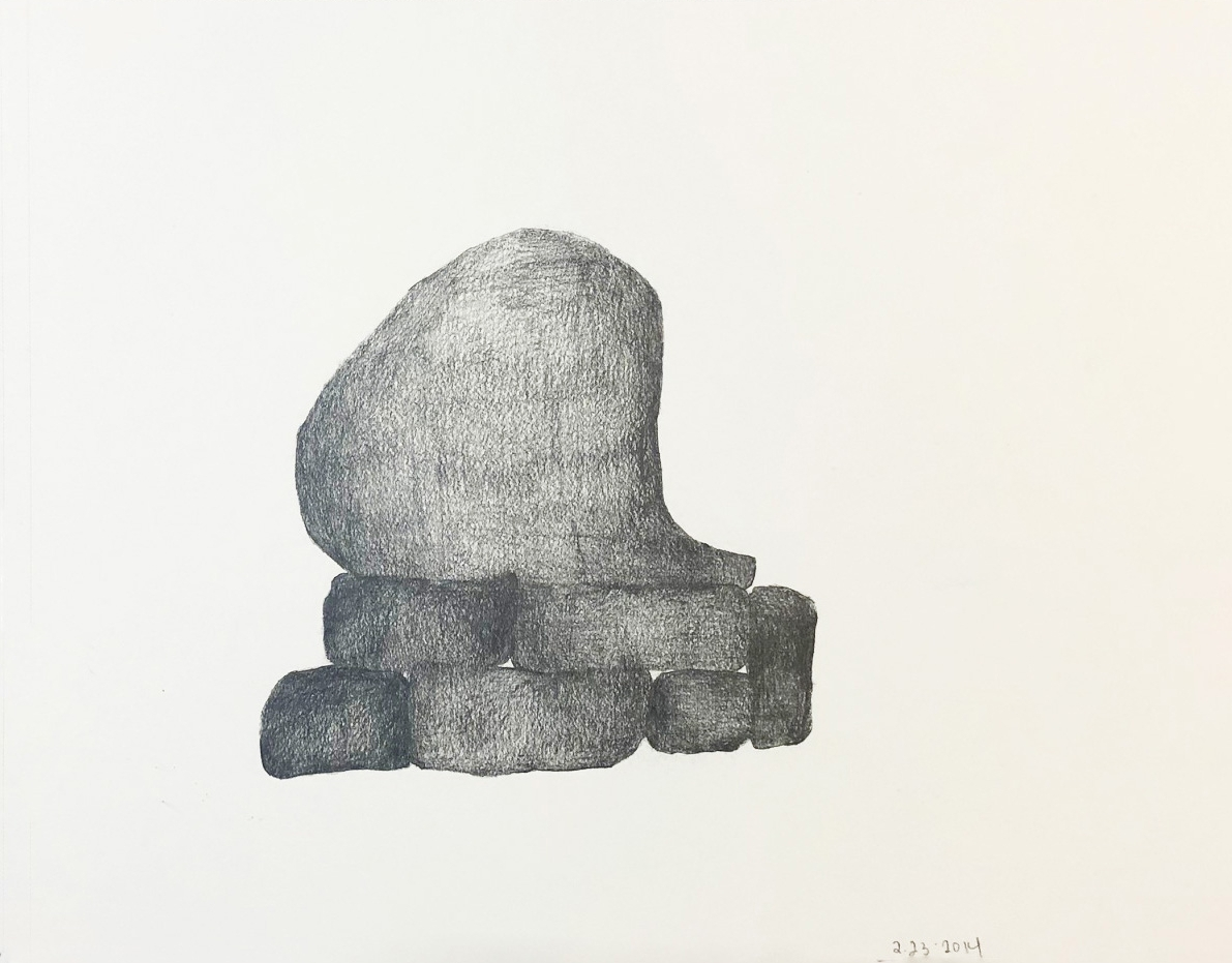 "Drawing 4, 2014, 8"" x 10"", pencil on paper"