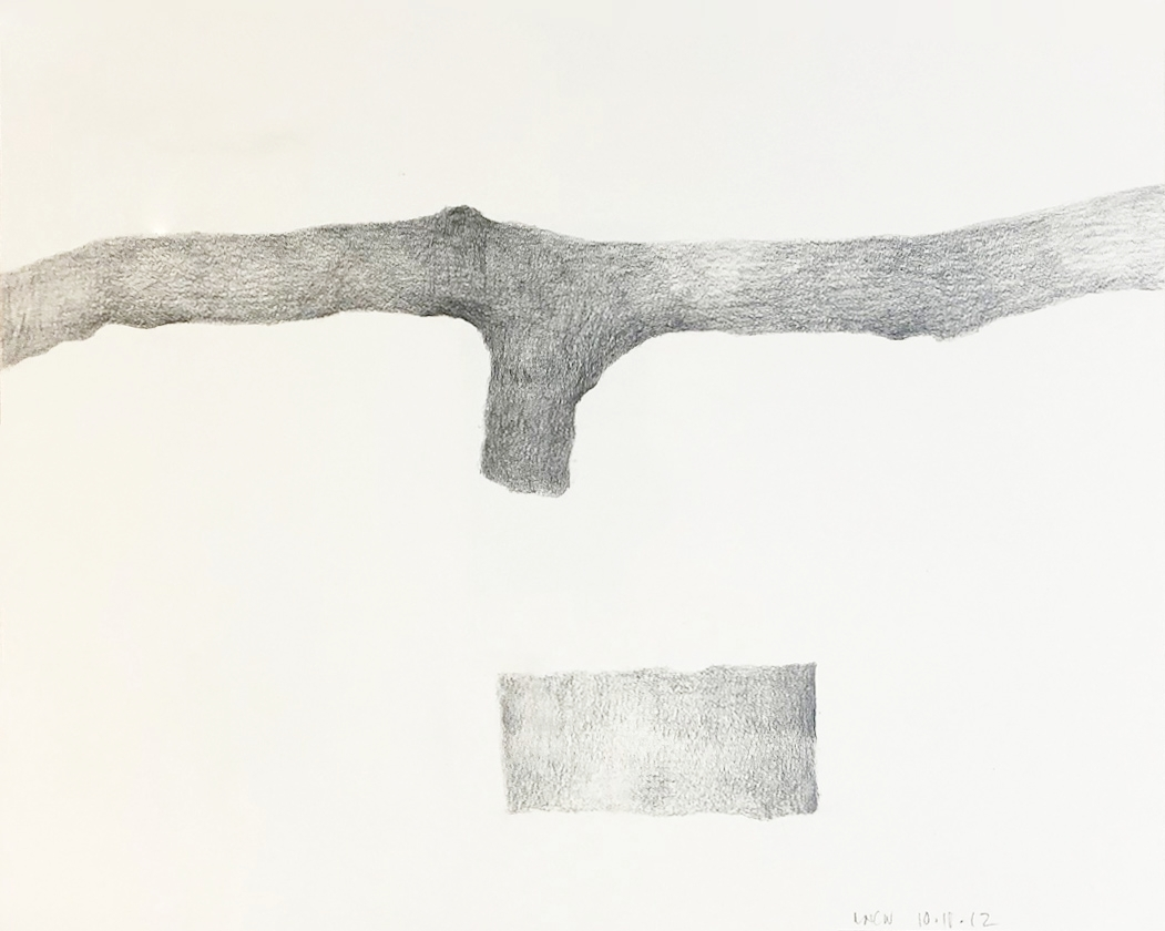 "Drawing 6, 2012, 8"" x 10"", pencil on paper"