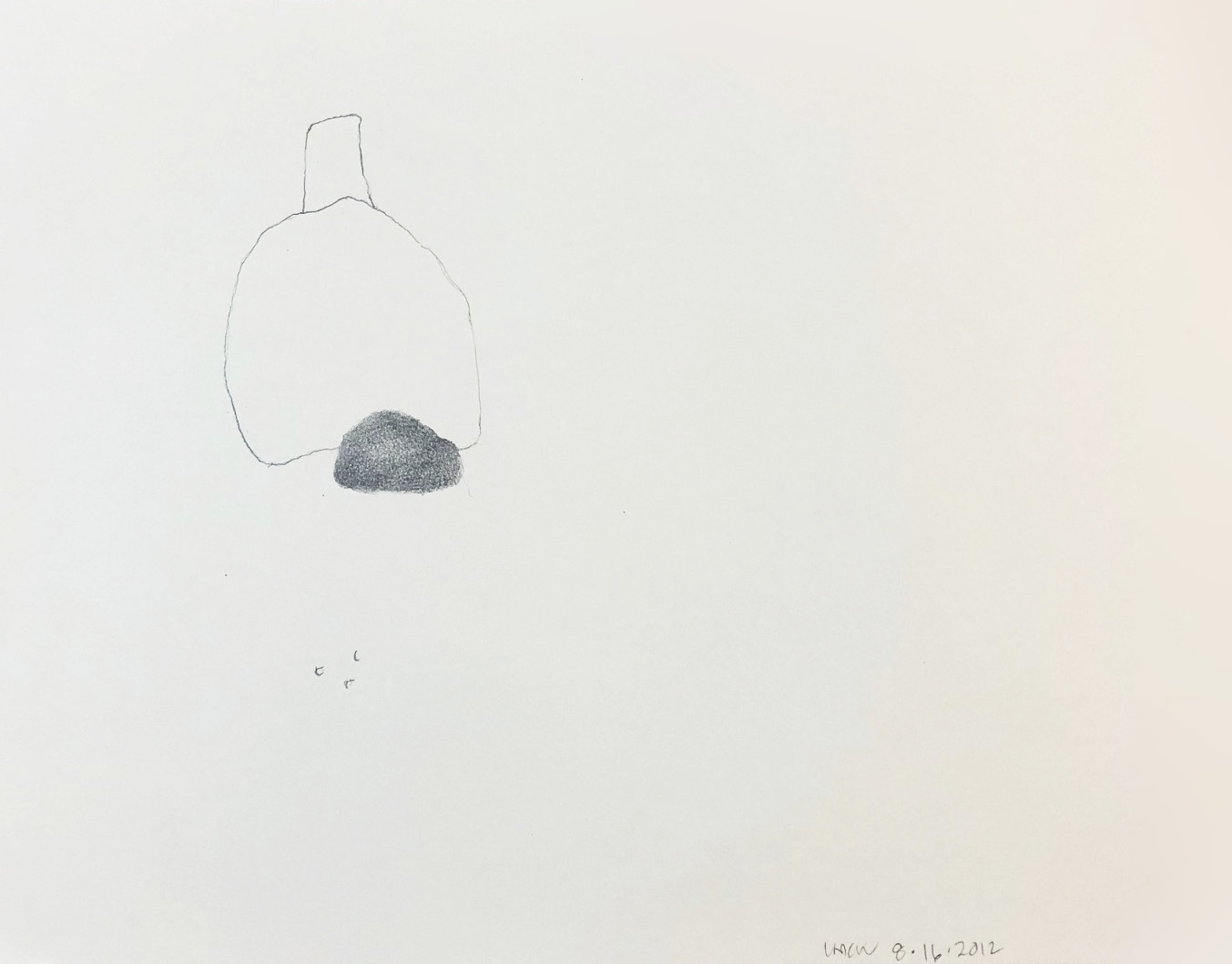 "Drawing 8, 2012, 8"" x 10"", pencil on paper"