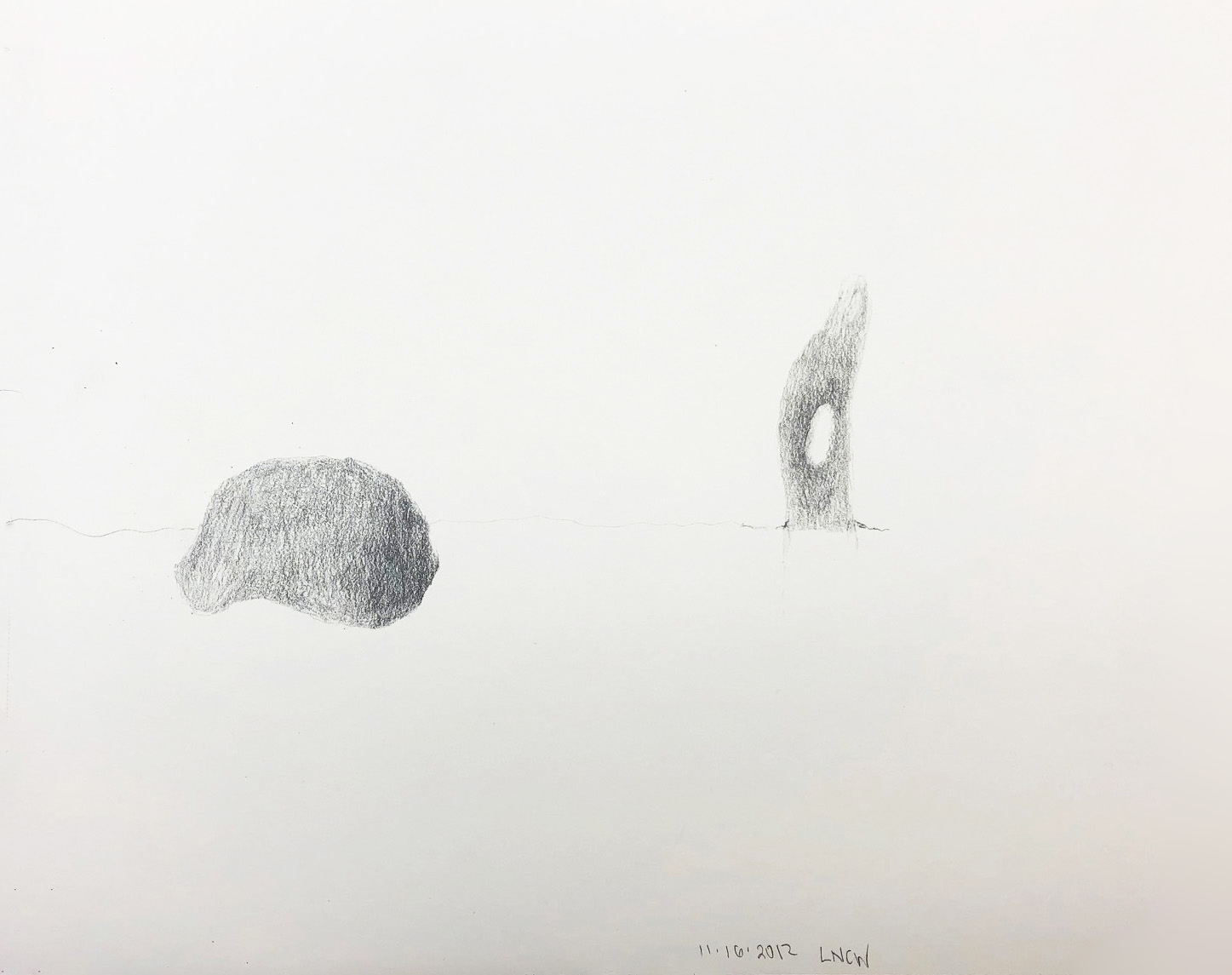 "Drawing 14, 2012, 8"" x 10"", pencil on paper"