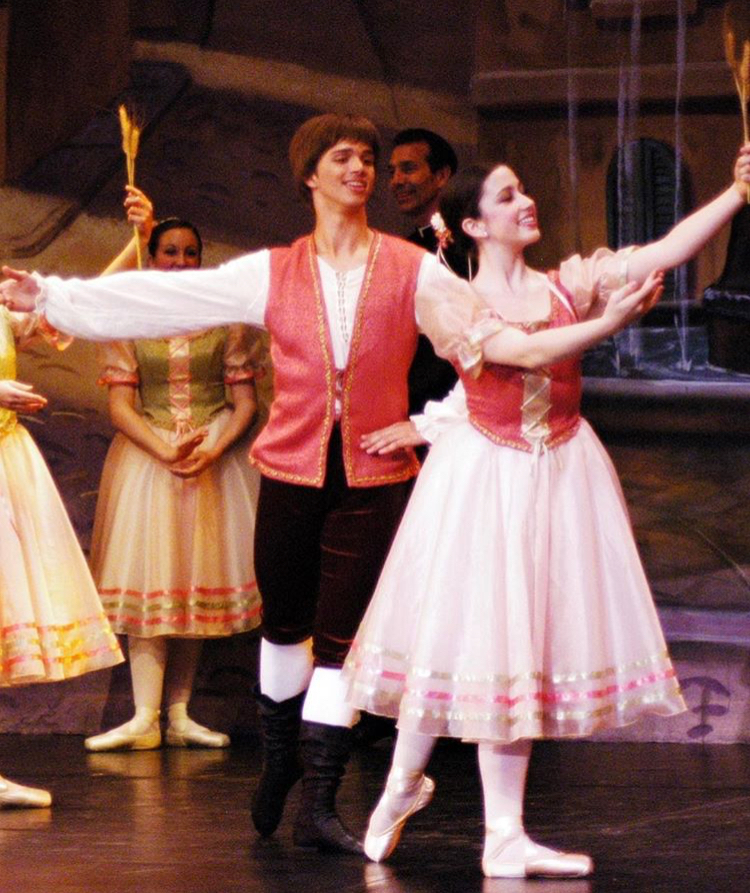 CIDE Alumni, Price Suddarth, Soloist with Pacific Northwest Ballet, and Betsy Boxberger in CIDE's 2006 performance of  Coppélia.