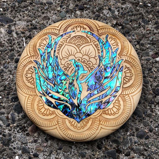 Just finished this custom abalone inlay Phoenix mini for a very happy customer. Holler at us with any idea. We will make it reality