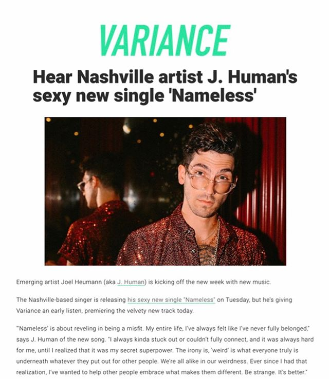 HUGE shout out to all of the blogs and playlists that have shown #Nameless love so far 🤗Thank you for all the kind words, and plz stay tuned -J. 🧡🧡🧡 · @variancemag  #A1234 @pausemusicale  @digitalhigh.blog  @thewordisbond  @pressplayok  @mystic_sons  @nocountrynash  @indiehappyhour  @musictalks.xyz  @datbuzzingsound  @gave2vibes @kickkicksnare