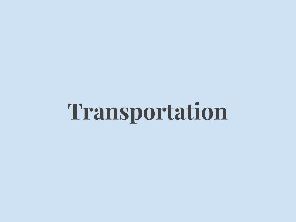 Transportation services for current refugees, especially during emergency situations.