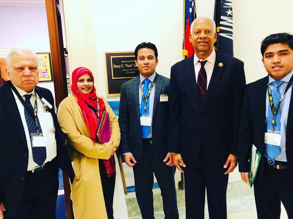 Rohingya Advocacy Day in Washington, D.C. - BRCG's President Ayub Mohammad and Deputy Secretary Ahsan Ullah visited to Congressman Henry C. Hank Johnson, Jr ' s office for the Rohingya Genocide issue in Burma on Rohingya Advocacy Day on March 12th, 2019 at Washington, D.C.