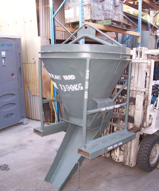 Concrete Kibble 3    Safe Working Load  - 1300 kg  Capacity  - 0.53 cbm
