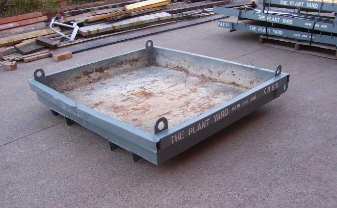 Concrete Wash Out Bin 09   Size - 1600 x 1400 x 200 mm  Capacity - 0.45 cubic m