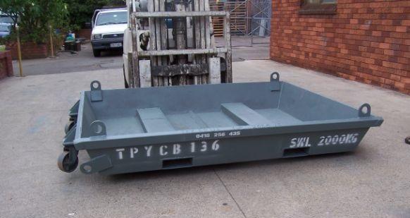 Concrete Wash Out Bin 136   Size - 1600 x 2000 x 300 mm Capacity - 0.96 cubic m