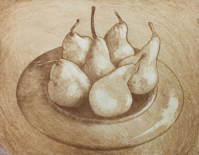 Pears on a Plate - Carolyn Brooks