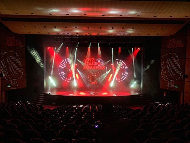NZ Radio Awards 2019 done and dusted. 180 panels of high res @absenled LED accompanied by 48 moving lights to make the night look fantastic. A big thanks to our wonderful client: Because!