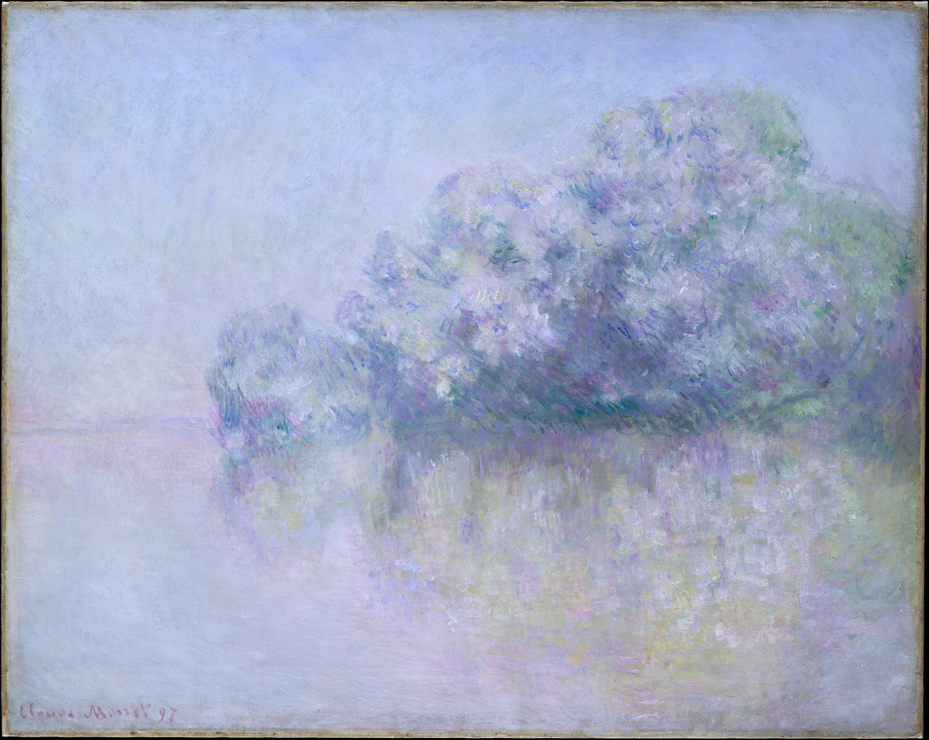 """Île aux Orties near Vernon"" by Claude Monet, 1897, oil on canvas,   28 7/8 x 36 1/2 in. Metropolitan Museum of Art, CCO 1.0."