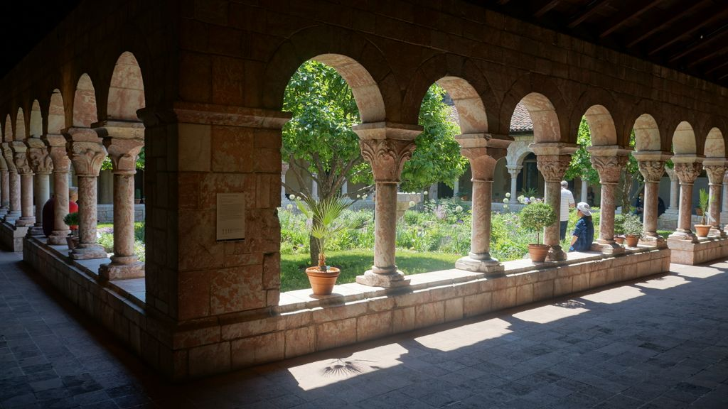 """ The Cuxa Cloister "" by  Ivan Herman  is licensed under  CC by 4.0"