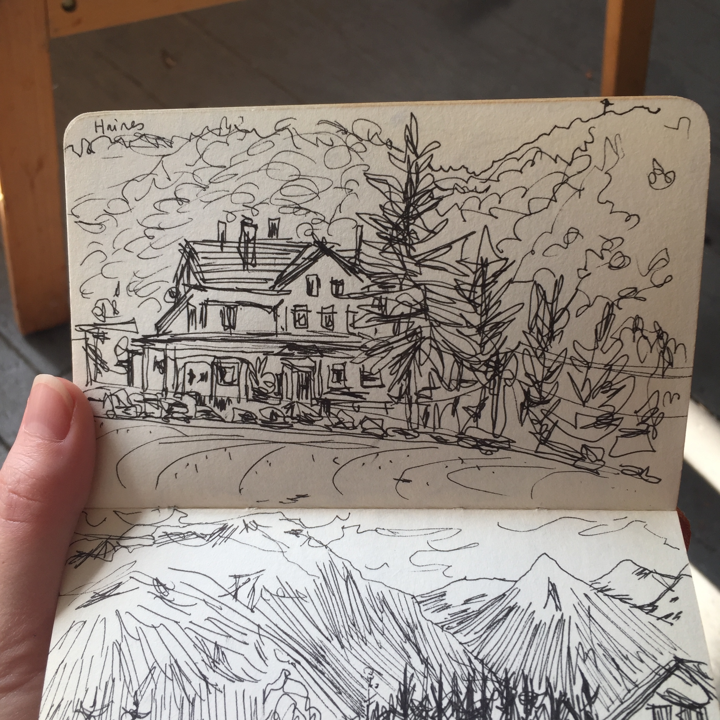 Sketchbook page from 2009. Haines, Alaska.