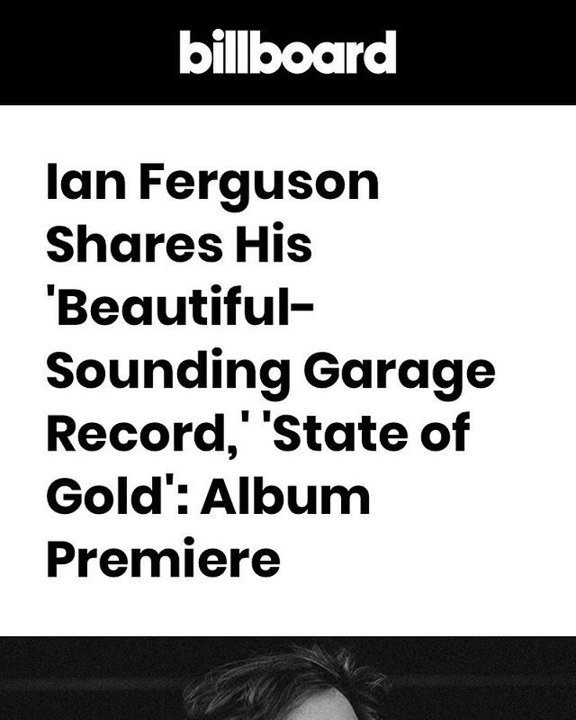 "VERY excited to announce that @billboard is premiering my debut solo record ""State of Gold"". It is available now in its entirety on the Billboard website. Thanks to Gary Graff for interviewing me. The link is in the bio!"