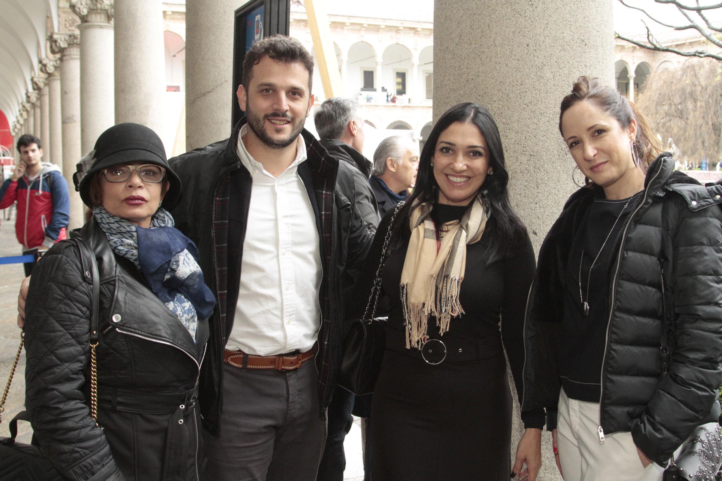 Emmilia Cardoso, Lucas Chequer, Cristina Côrtes e Kelly Figueiredo