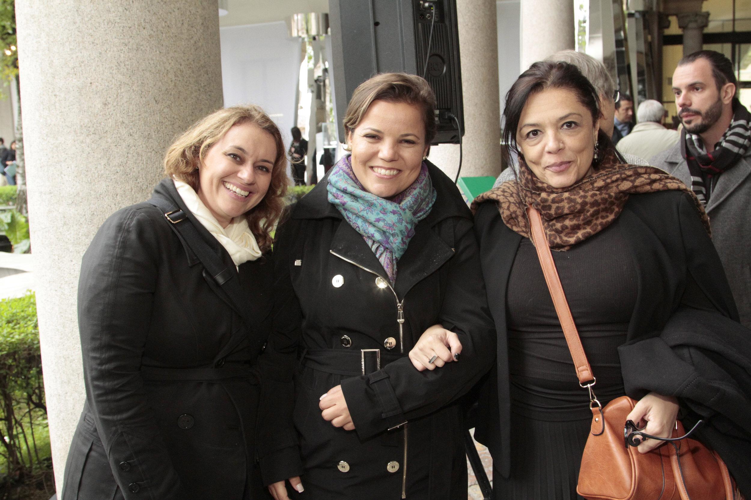 Flavia Maranhães, Priscila Boldrin e Andrea Falchi