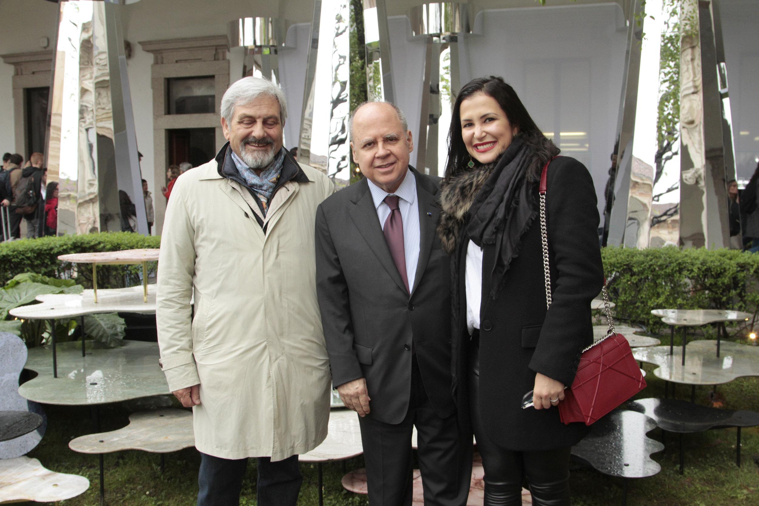 Dino Sprea, Embaixador Eduardo dos Santos e Vivian Coser