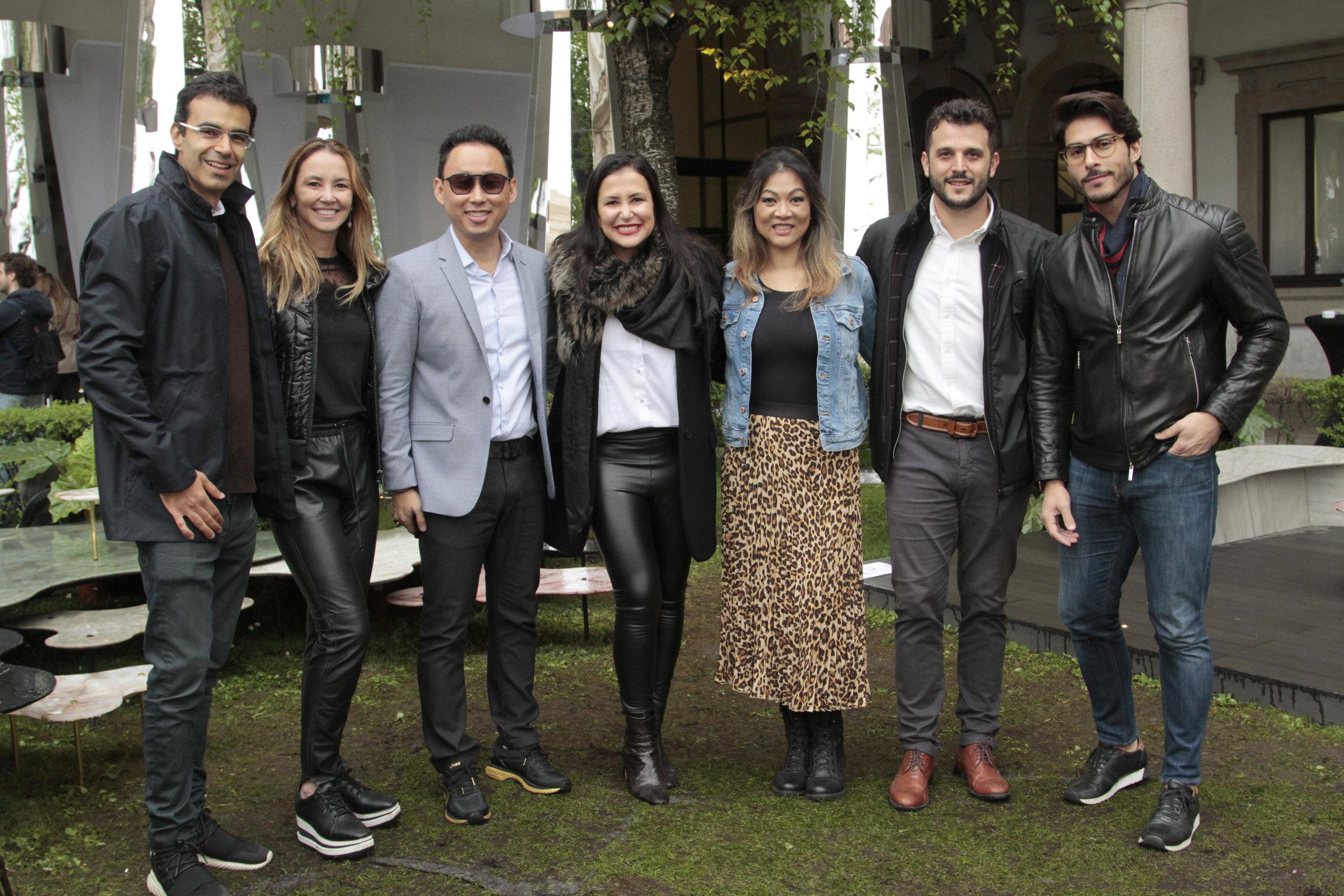 Ricardo Saad, Erika Coser, Fabiano Hayasaki, Vivian Coser, Tania Hayasaki, Lucas Chequer e Bruno Santos