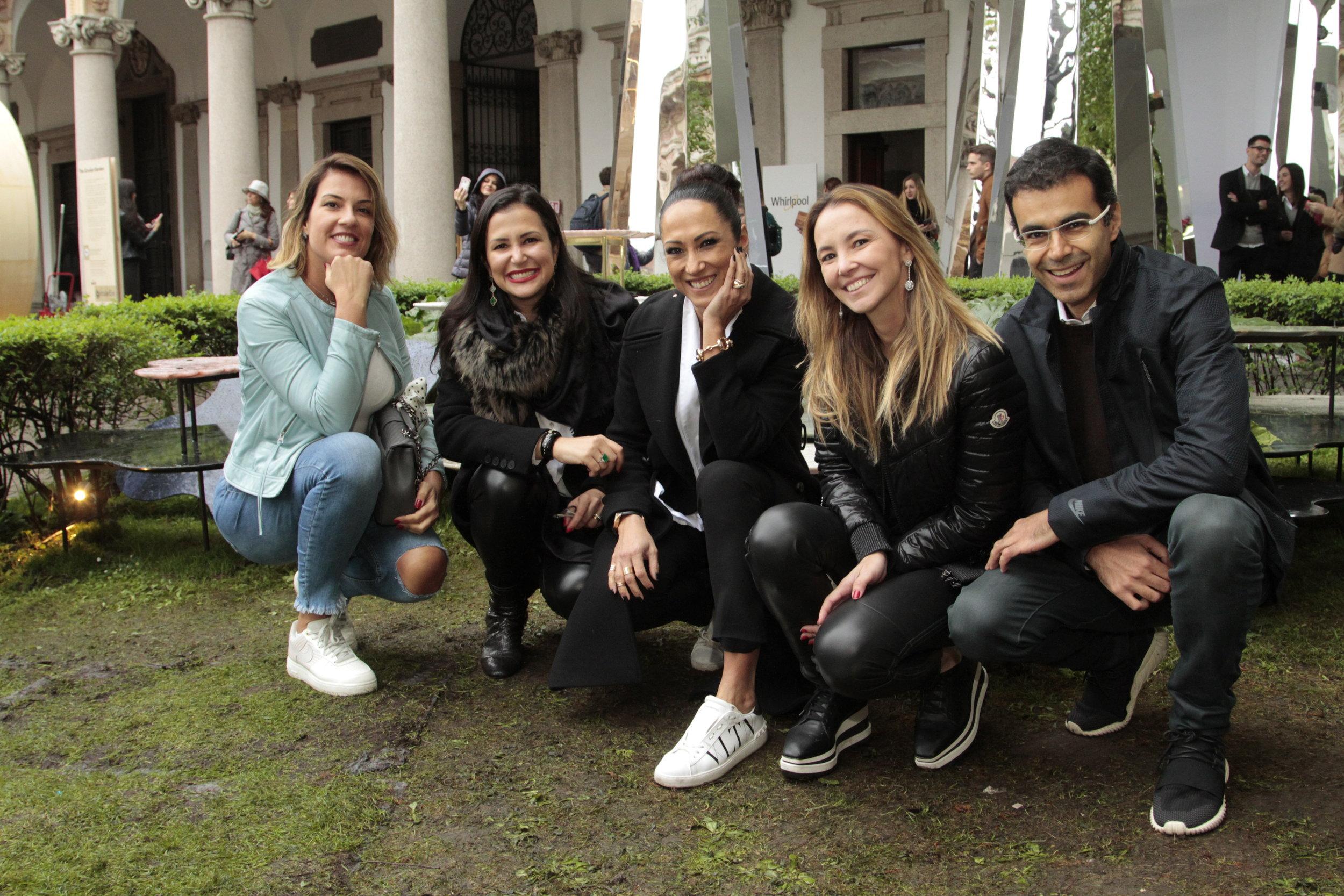 Renata Malenza, Vivian Coser, Katy Satto, Erika Coser e Ricardo Saad