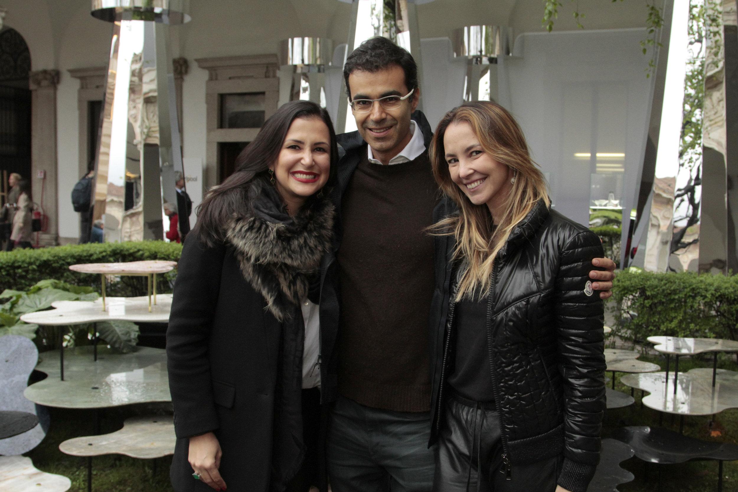 Vivian Coser, Ricardo Saad e Erika Coser