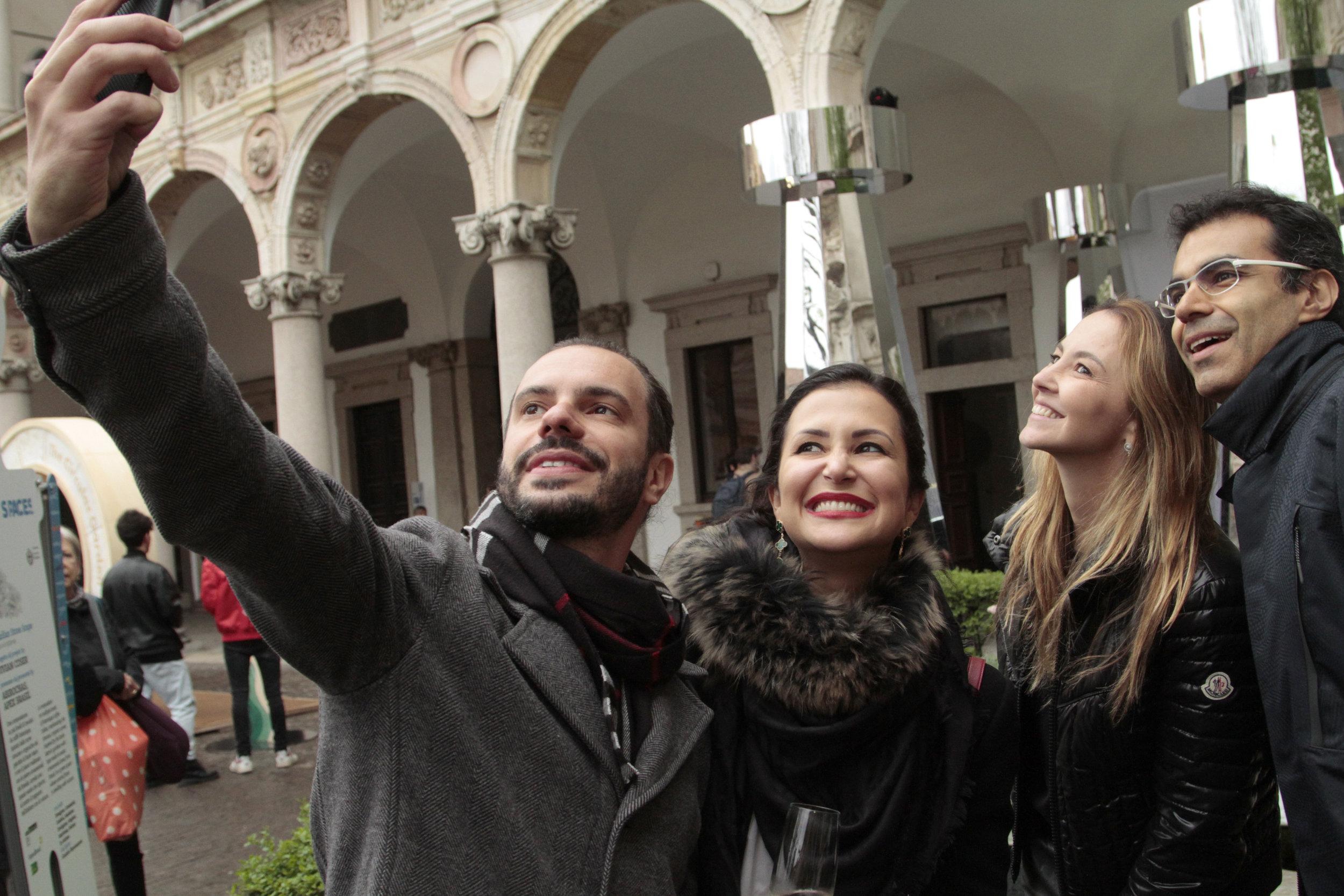 Marcello Sesso, Vivian e Erika Coser e Ricardo Saad