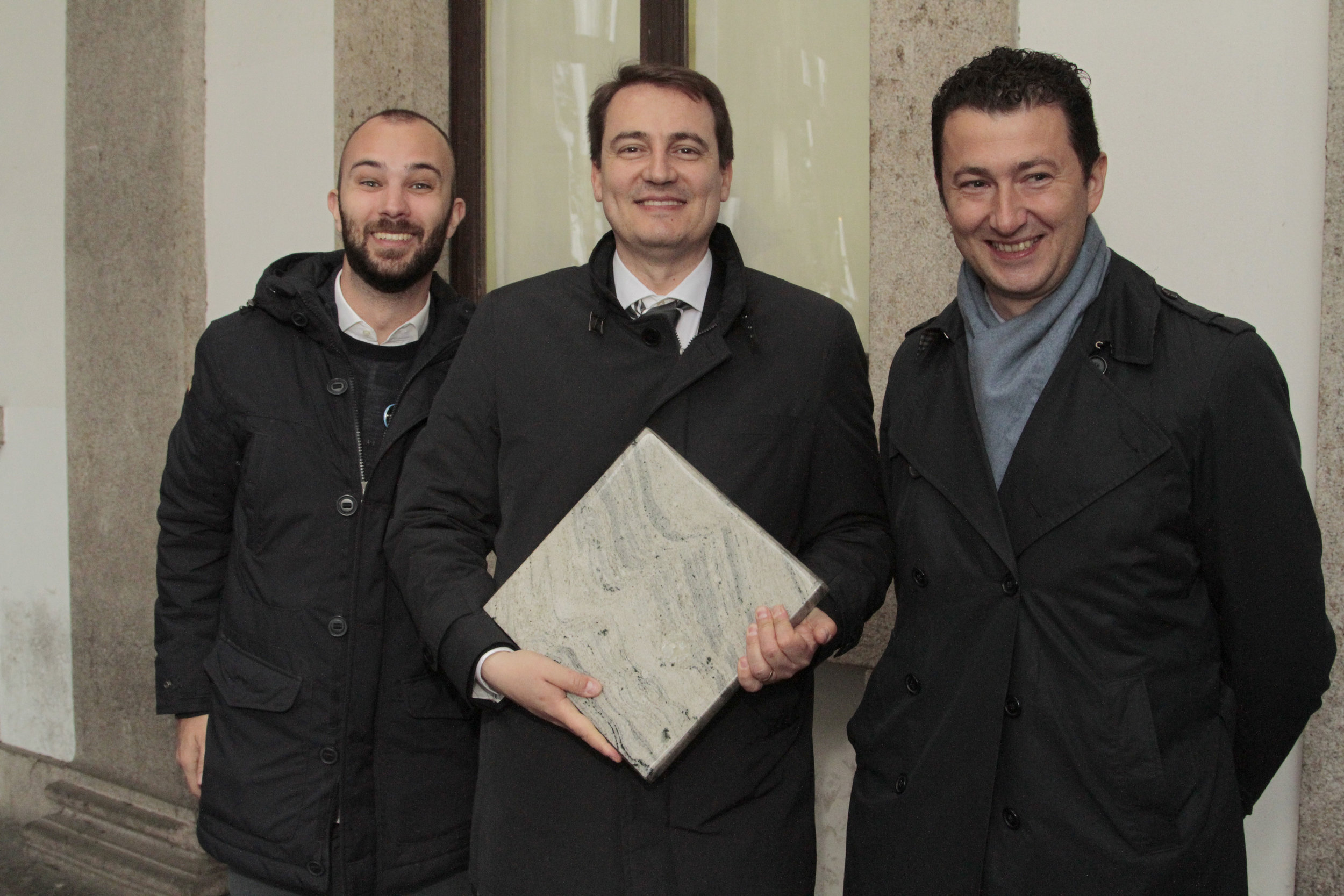 Nicola Ferrarese, Jacopo Pavani e Felippo Coffele