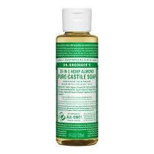 Castile Soap - Look for unscented vegetable-based options that are all-natural and olive or coconut oil based. Dr. Bronner's is a popular option.