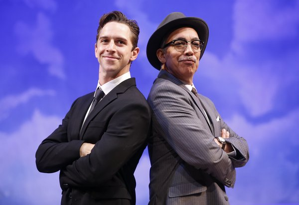 CATCH ME IF YOU CAN  (Music Theatre Wichita): Skyler Adams & Thom Sesma photo by Christopher Clark