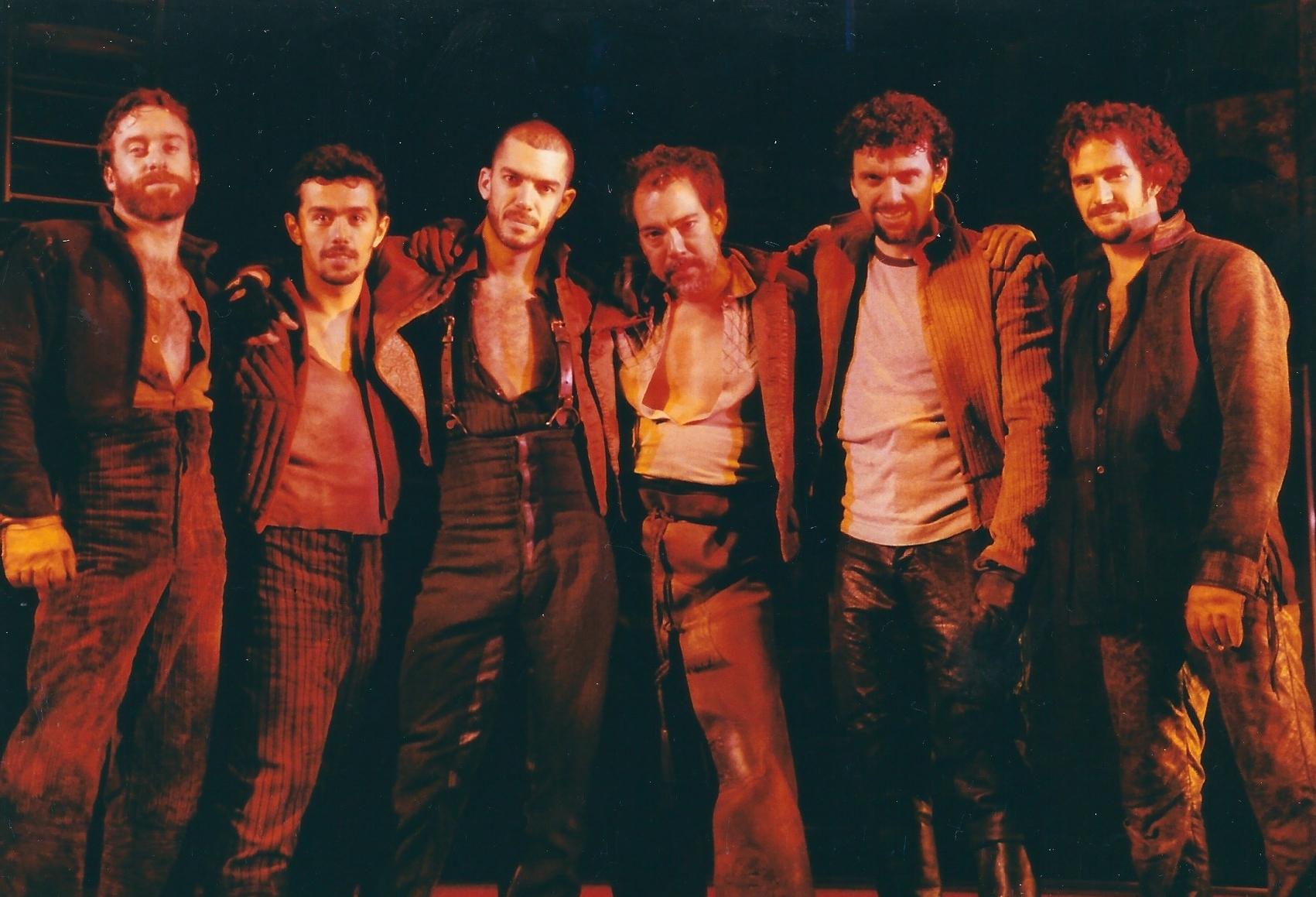 MAN OF LA MANCHA  (Broadway revival): Timothy J. Alex, Wilson Mendieta, Dennis Stowe, Thom Sesma, Bradley Dean, Andy Blankenbuehler
