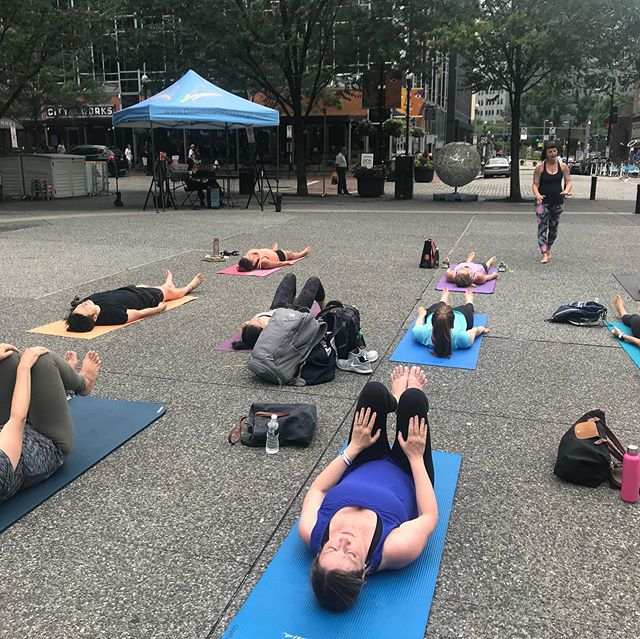Thanks @downtownpitt for the awesome yoga class....So glad that we were able to have it…Despite the rain!
