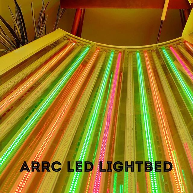 The modality feature if the week is the ARRC LED Lightbed. ⠀ *⠀ The led lightbed uses red, green, and near infrared lights to stimulate internal AND external healing. With just 40 minutes a week (2 twenty minute sessions) you will have a longer, healthier life ... this is the pinnacle of anti-aging. ⠀ *⠀ It improves skin tone, detoxifies your cells, reduces pain, increases circulation, and decreases inflammation. It also helps protect the nervous, cardiovascular, and musculoskeletal systems. And the best part... this is all backed by SCIENCE!