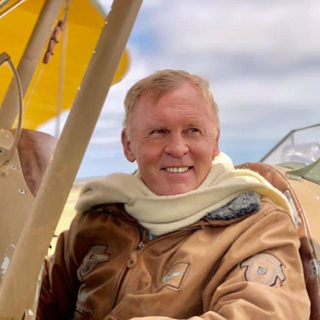 Our photogenic presenter Andy Thomas looking more than a little like Robert Redford in Out of Africa today! A huge day of shooting with some beautiful old planes on the south coast - including this glorious 1939 Tiger Moth. Go-pros, drones, aerials and multiple camera locations meant every angle was covered!