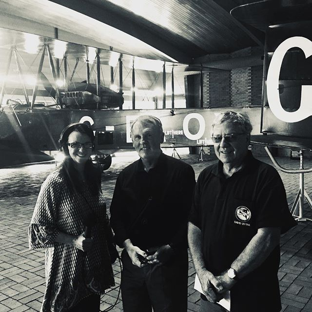 Talking all things Vickers Vimy and the 1919 Air Race with Andy Thomas, David Byrne from the SA #Aviation Museum and Fiona Croall, who's making a radio feature on the Smith brothers' epic flight for #ABC Radio National next year.